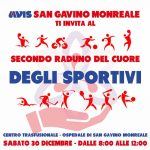 Locandina raduno degli sportivi Natale 2017